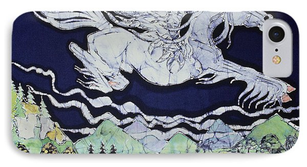 Pegasus Flying Over Stream IPhone Case