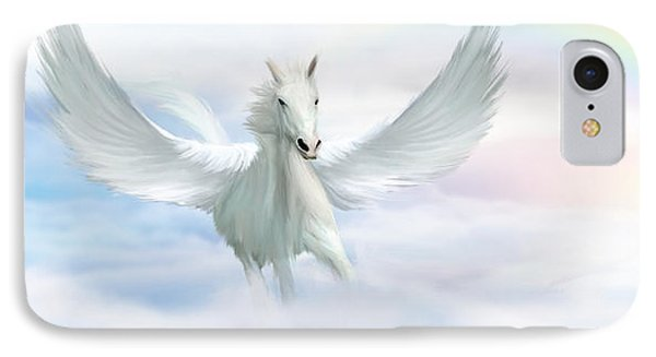 Pegasus IPhone Case by John Edwards