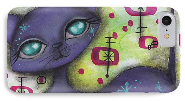 Peggy Cat IPhone Case by Abril Andrade Griffith