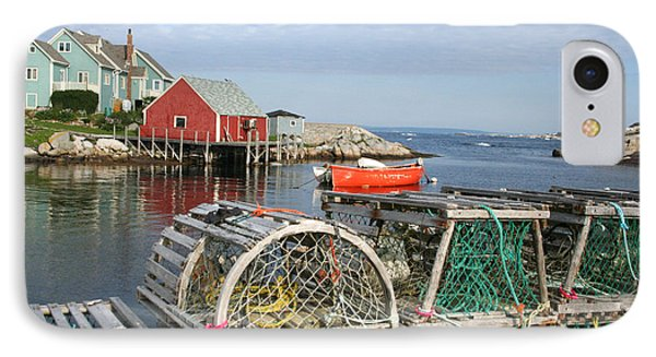 Peggys Cove And Lobster Traps Phone Case by Thomas Marchessault