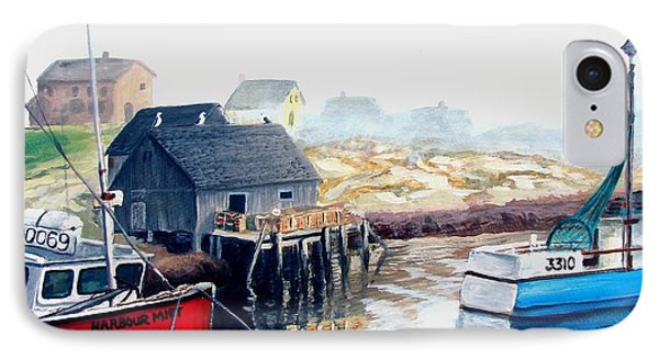 IPhone Case featuring the painting Peggy's Cove Harbour by Patricia L Davidson