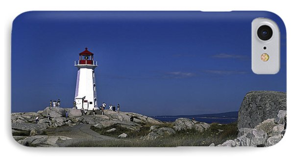 Peggy's Cove Lighthouse Phone Case by Sally Weigand