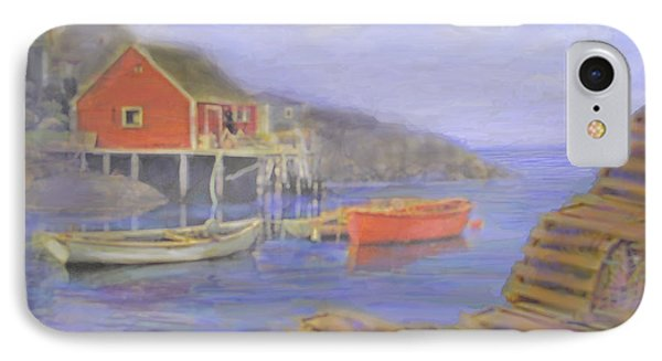 Peggy's Cove Lobster Pots Phone Case by Ian  MacDonald