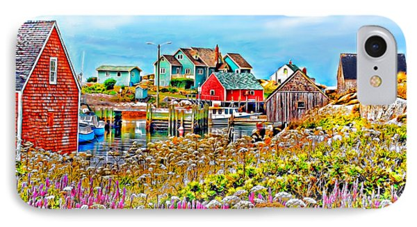 Peggy's Cove Wildflower Harbour IPhone Case by Kevin J McGraw
