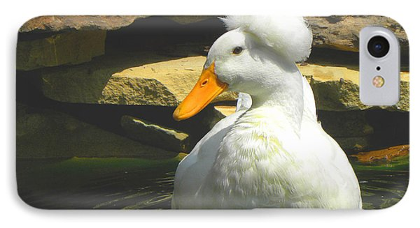 IPhone Case featuring the photograph Pekin Pop Top Duck by Sandi OReilly