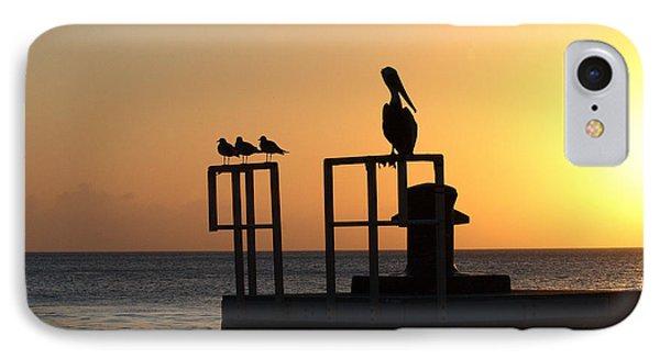 Pelican And Friend Phone Case by Rebecca Cozart