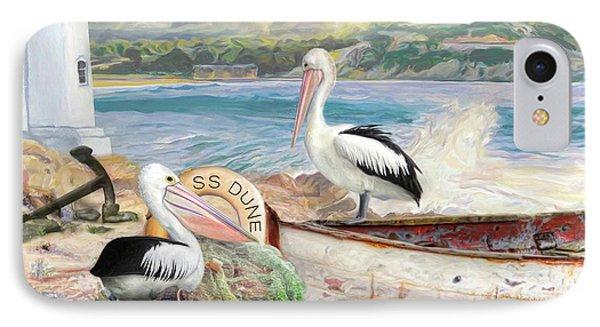 IPhone Case featuring the digital art  Pelican Cove by Trudi Simmonds
