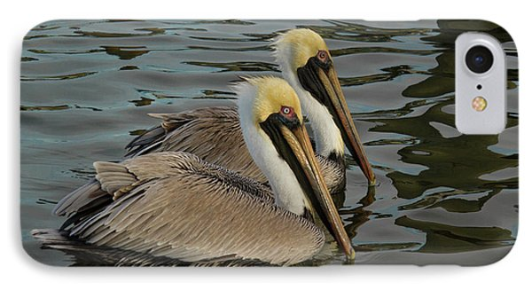 IPhone Case featuring the photograph Pelican Duo by Jean Noren