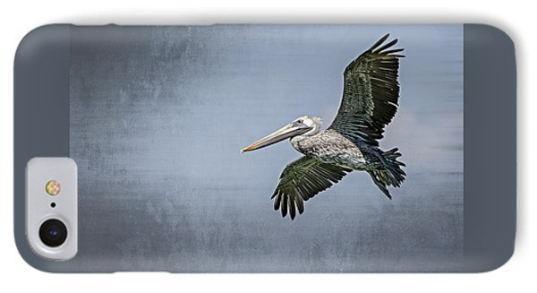 IPhone Case featuring the photograph Pelican Flight by Carolyn Marshall