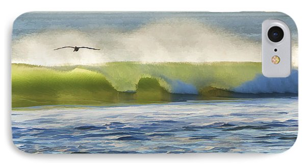 Pelican Flying Over Wind Wave IPhone Case by John A Rodriguez
