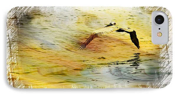 Pelican In Flight IPhone Case by Athala Carole Bruckner
