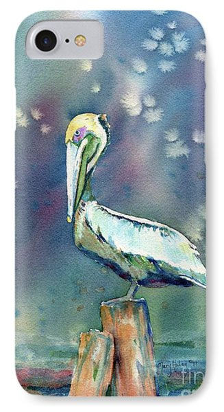 IPhone Case featuring the painting Pelican by Mary Haley-Rocks