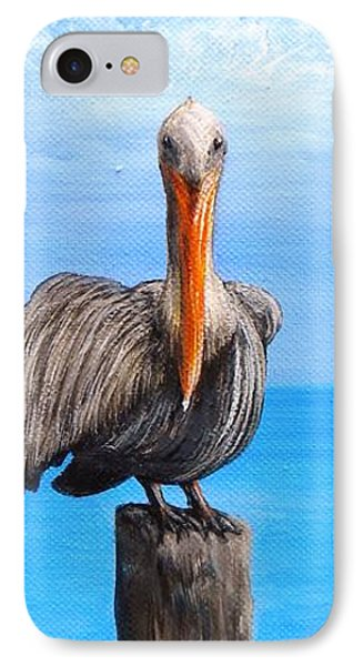 Pelican On Pier IPhone Case