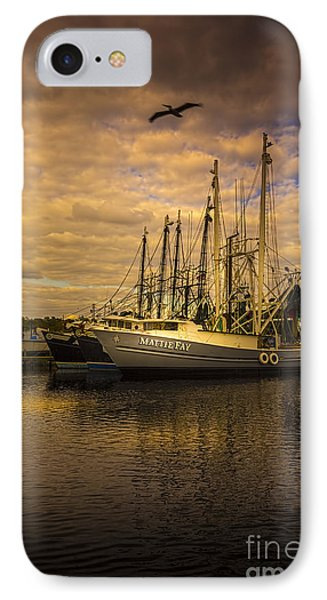 Pelican Over Mattie Fay IPhone Case by Marvin Spates