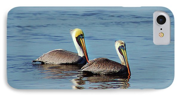 Pelicans 2 Together IPhone Case by Michael Thomas