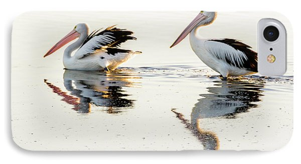 Pelicans At Dusk IPhone Case by Werner Padarin