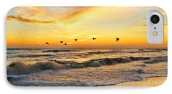 Pelicans At Sunrise  Signed 4651b 2  Phone Case by Jack Schultz