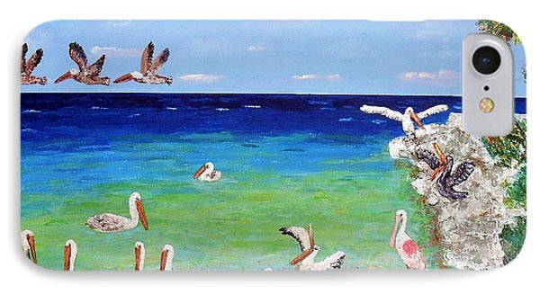Pelicans IPhone Case by Vicky Tarcau