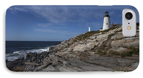Pemaquid Lightouse IPhone Case by Timothy Johnson