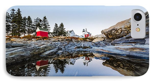 IPhone Case featuring the photograph Pemaquid Point Light Reflection by Robert Clifford