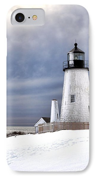 Pemaquid Point Lighthouse In Winter IPhone Case