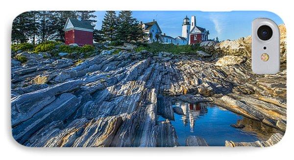 Pemaquid Point Lighthouse Maine IPhone Case by Diane Diederich