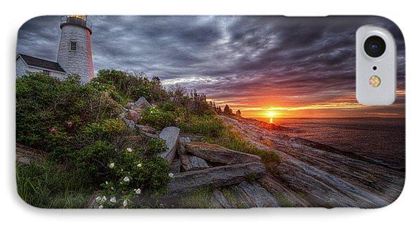 Pemaquid Sunrise IPhone Case by Neil Shapiro
