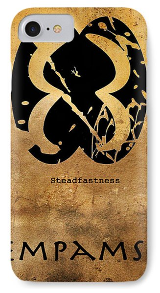 IPhone Case featuring the digital art Pempamsie Adinkra Symbol by Kandy Hurley