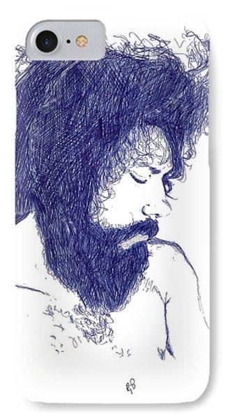 Pen Portrait IPhone Case by Ron Bissett