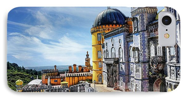 Pena Palace In Sintra Portugal  IPhone Case by Carol Japp