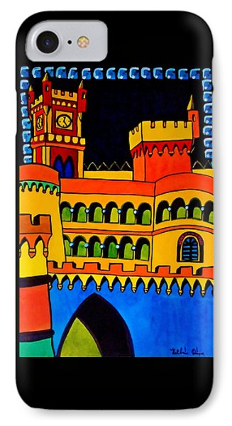 IPhone Case featuring the painting Pena Palace Portugal by Dora Hathazi Mendes