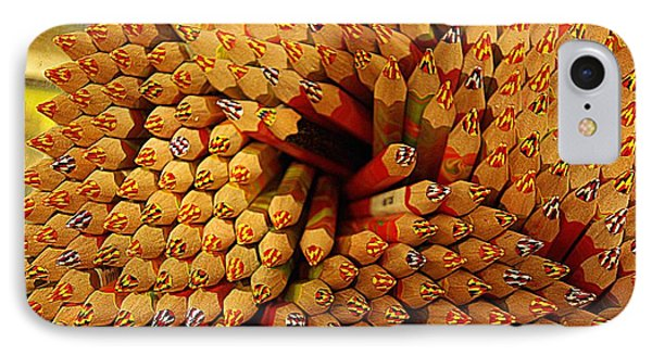 Pencils Pencils Everywhere Pencils Get The Point...lol IPhone Case by John S