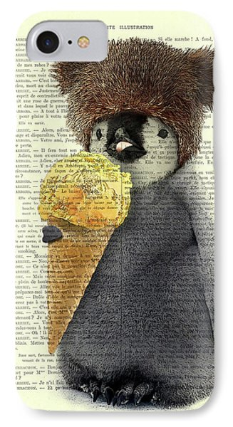 Ice iPhone 7 Case - Penguin Ice Cream by Madame Memento