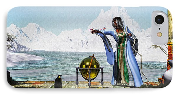 Penguin Magic And The Winter Witch Phone Case by Bob Orsillo