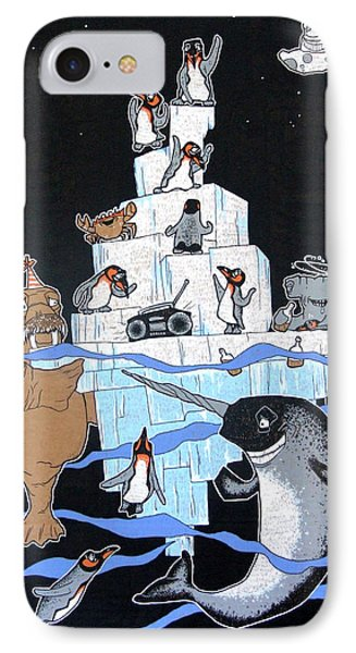 Penguin Party IPhone Case by Bizarre Bunny