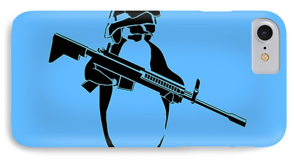 Penguin Soldier IPhone Case