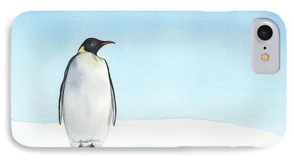 IPhone Case featuring the painting Penguin Watercolor by Taylan Apukovska