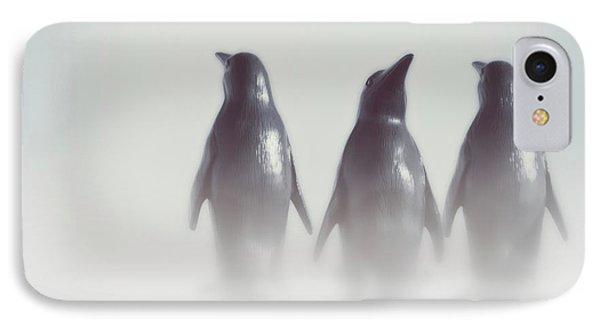 Penguins In The Mist IPhone Case by Wim Lanclus