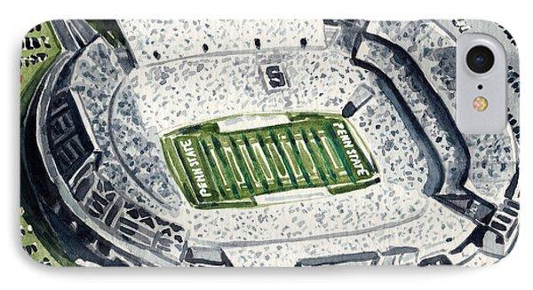 Penn State Beaver Stadium Whiteout Game University Psu Nittany Lions Joe Paterno IPhone 7 Case by Laura Row
