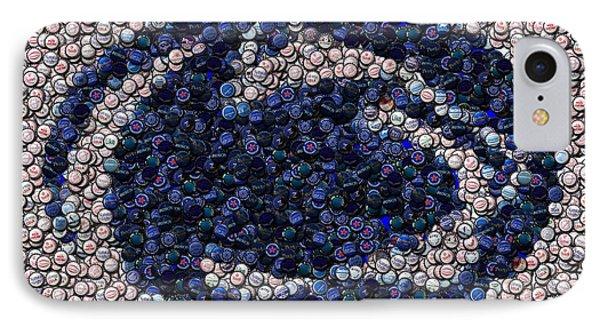 Penn State Bottle Cap Mosaic Phone Case by Paul Van Scott