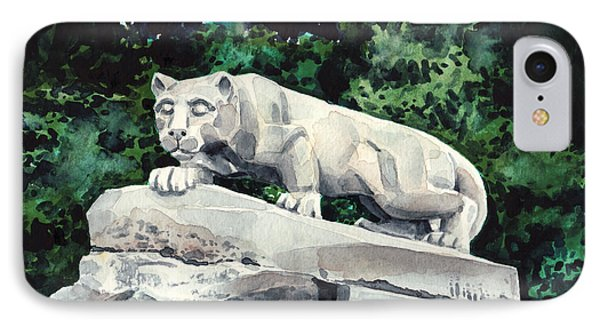 Penn State Nittany Lion Shrine University Happy Valley Joe Paterno IPhone Case by Laura Row