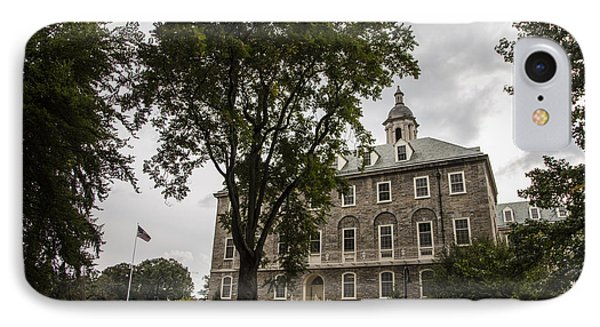Penn State Old Main And Tree IPhone Case by John McGraw