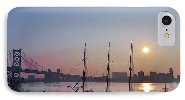 Penns Landing Sunrise IPhone Case by Bill Cannon