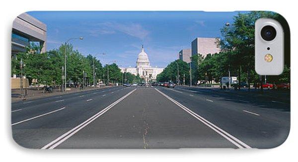 Pennsylvania Avenue, Washington Dc IPhone Case by Panoramic Images