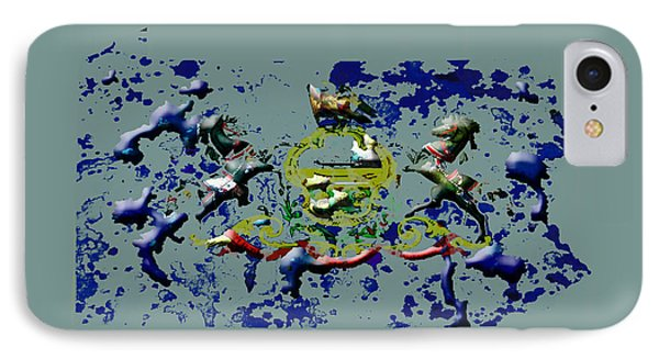 Pennsylvania Paint Splatter IPhone Case by Brian Reaves