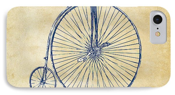 Bicycle iPhone 7 Case - Penny-farthing 1867 High Wheeler Bicycle Vintage by Nikki Marie Smith