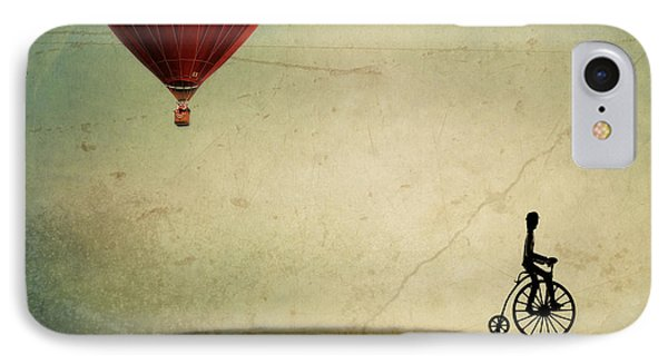 Penny Farthing For Your Thoughts IPhone Case by Irene Suchocki