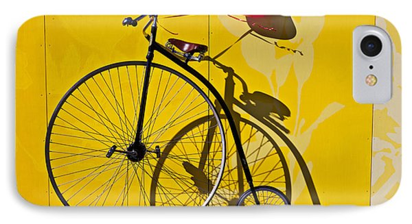 Transportation iPhone 7 Case - Penny Farthing Love by Garry Gay