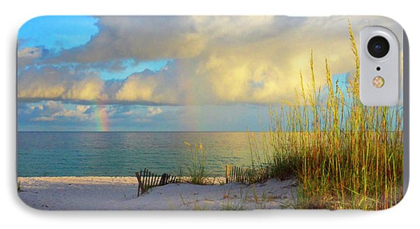 Pensacola Rainbow At Sunset IPhone Case by Marie Hicks