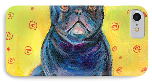 Pensive French Bulldog Painting Prints IPhone Case